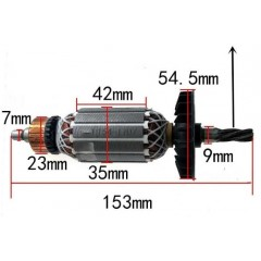 Bosch Tipi Gbh 2-26 Dre Endüvi ( Rotor - Kollektör )
