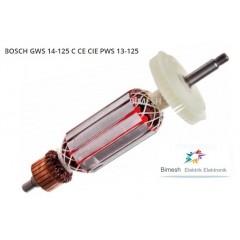 Bosch Tipi Gws 13-125 Endüvi ( Rotor - Kollektör )