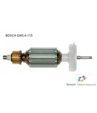 Bosch Tipi Tipi Gws 6-115 Endüvi ( Rotor Kollektör Armatur ).Rotor