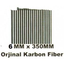Bruni  Hasat Makinaları Karbon Fiber Çubuk 6mm